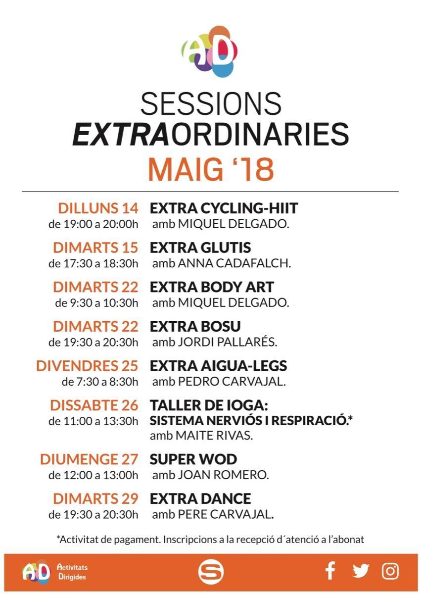 Sesiones extraordinarias Mayo
